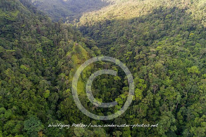 Luftaufnahme von Cerro Azul Meambar National Park, Honduras / Aerial View of Cerro Azul Meambar National Park, Honduras