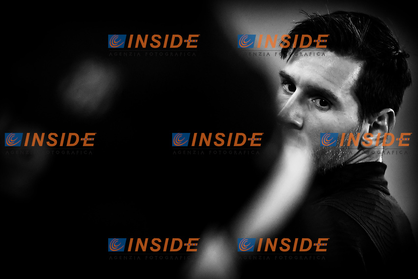 Lionel Messi of Barcelona looks on during the warm up prior to the Champions League Group Stage G football match between Juventus FC and Barcelona at Juventus stadium in Torino (Italy), October, 28th, 2020. Photo Andrea Staccioli / Insidefoto