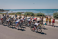 peloton rolling by the Atlantic Ocean at the start of the stage<br /> <br /> Stage 5: Lorient > Quimper (203km)<br /> <br /> 105th Tour de France 2018<br /> ©kramon