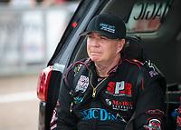 Apr 13, 2019; Baytown, TX, USA; NHRA top fuel driver Scott Palmer during qualifying for the Springnationals at Houston Raceway Park. Mandatory Credit: Mark J. Rebilas-USA TODAY Sports