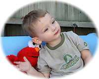 My grandson Dylan & Elmo