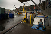 S.Antonio; Chile; 2011; Story on San antonio harbour fishermen, where after decades of over fishing the traditional small fishermen can barely survive with the small catch they get. Entire fishermen towns in Chile´s V Region are endangered