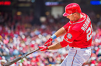 21 June 2015: Washington Nationals first baseman Clint Robinson in action against the Pittsburgh Pirates at Nationals Park in Washington, DC. The Nationals defeated the Pirates 9-2 to sweep their 3-game weekend series, and improve their record to 37-33. Mandatory Credit: Ed Wolfstein Photo *** RAW (NEF) Image File Available ***