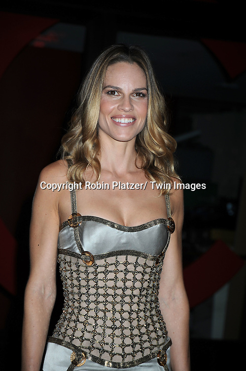 Hilary Swank in Versace dress  attending The Glamour Magazine 20th Annual Women of the Year on November 8, 2010 at Carnegie Hall in New York City.