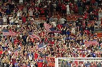 CLEVELAND, OHIO - JUNE 22: US Fans during a 2019 CONCACAF Gold Cup group D match between the United States and Trinidad & Tobago at FirstEnergy Stadium on June 22, 2019 in Cleveland, Ohio.