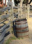 Whiskey barrel and split rail fence, Whisky barrel, Williamsburg VA, barrel, Colonial Williamsburg, Fine Art Photography by Ron Bennett, Fine Art, Fine Art photography, Art Photography, Copyright RonBennettPhotography.com ©