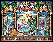 Randy, HOLY FAMILIES, HEILIGE FAMILIE, SAGRADA FAMÍLIA, paintings+++++SG-Nativity-In-Stable-H,USRW168,#xr# ,church window, stained glass