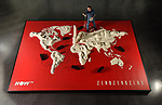 World map made from 161kg of flour to launch ZeroZeroZero, a drug-trafficking show on NOW TV