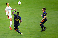 CARSON, CA - JUNE 19: Javier Hernandez #14 of the Los Angeles Galaxy looking to trap the ball during a game between Seattle Sounders FC and Los Angeles Galaxy at Dignity Health Sports Park on June 19, 2021 in Carson, California.
