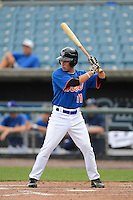 Outfielder Tolly Filotei (11) of Daphne High Schooli n Daphne, Alabama playing for the New York Mets scout team during the East Coast Pro Showcase on August 1, 2013 at NBT Bank Stadium in Syracuse, New York.  (Mike Janes/Four Seam Images)