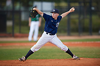Southern Maine Huskies relief pitcher Ryan Gaydou (25) delivers a pitch during a game against the Dartmouth Big Green on March 23, 2017 at Lake Myrtle Park in Auburndale, Florida.  Dartmouth defeated Southern Maine 9-1.  (Mike Janes/Four Seam Images)