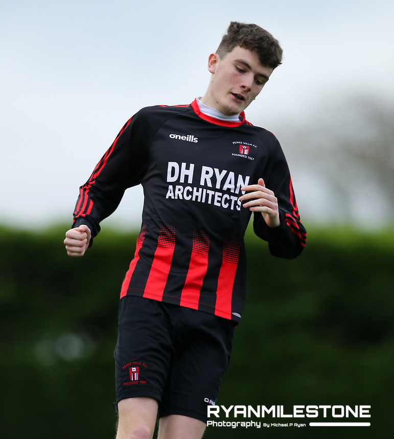 EVENT:<br /> TSDL Premier Division<br /> Two Mile Borris v Peake Villa<br /> Sunday 5th January 2020<br /> Newhill, Littleton, Co Tipperary<br /> <br /> CAPTION:<br /> Ronan Maguire of Peake Villa celebrates after scoring his side's second goal<br /> <br /> Photo By: Michael P Ryan