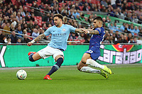Kyle Walker of Manchester City and Emerson Palmieri of Chelsea during the Carabao Cup Final match between Chelsea and Manchester City at Stamford Bridge on February 24th 2019 in London, England. (Photo by Paul Chesterton/phcimages.com)<br /> Foto PHC Images / Insidefoto <br /> ITALY ONLY