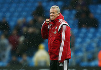 Swansea City caretaker manager Alan Curtis ahead of the Barclays Premier League match between Manchester City and Swansea City played at the Etihad Stadium, Manchester on December 12th 2015