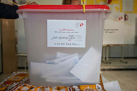 23 ottobre 2011 Tunisi, elezioni libere per l'Assemblea Costituente, le prime della Primavera araba: un'urna contenente le schede elettorali.October 23, 2011 Tunis, free elections for the Constituent Assembly, the first of the Arab Spring: an urn containing the ballots.<br /> <br /> premieres elections libres en Tunisie octobre <br /> tunisian elections