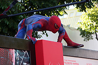"""LOS ANGELES - JUN 28:  Atmosphere - Spider-Man Character arrives at the """"The Amazing Spider-Man"""" Premiere at Village Theater on June 28, 2012 in Westwood, CA"""