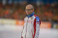 SPEEDSKATING: HEERENVEEN: 11-01-2020, IJsstadion Thialf, European Championship distances, Kosta Poltavets (caoch RUS), ©foto Martin de Jong