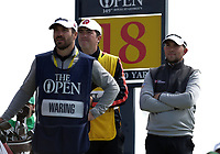 16th July 2021; Royal St Georges Golf Club, Sandwich, Kent, England; The Open Championship Tour Golf, Day Two; Daniel Croft (ENG) looks on from the 18th tee