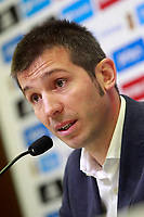 The coach of the national sub21 soccer team of Spain, Albert Celades, presents the list of players for international match against Iceland and Slovakia. November 3,2017.(ALTERPHOTOS/Acero) /NortePhoto.com