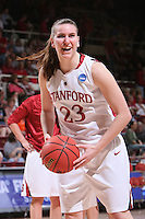 22 March 2008: Jeanette Pohlen during Stanford's 85-47 win over Cleveland State during the first round of the NCAA Women's Basketball first round game at Maples Pavilion in Stanford, CA.