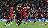Liverpool's Roberto Firmino battles with Atletico Madrid's Renan Lodi <br /> <br /> Photographer Rich Linley/CameraSport<br /> <br /> UEFA Champions League Round of 16 Second Leg - Liverpool v Atletico Madrid - Wednesday 11th March 2020 - Anfield - Liverpool<br />  <br /> World Copyright © 2020 CameraSport. All rights reserved. 43 Linden Ave. Countesthorpe. Leicester. England. LE8 5PG - Tel: +44 (0) 116 277 4147 - admin@camerasport.com - www.camerasport.com