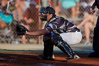Tucker Mitchell during the WWBA World Championship at the Roger Dean Complex on October 20, 2018 in Jupiter, Florida.  Tucker Mitchell is a catcher from Oakton, Virginia who attends IMG Academy and is committed to Florida Atlantic.  (Mike Janes/Four Seam Images)