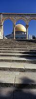 Asie/Israël/Judée/Jérusalem: le Haram el-Chérif et le Dôme du Rocher escalier et quanatir