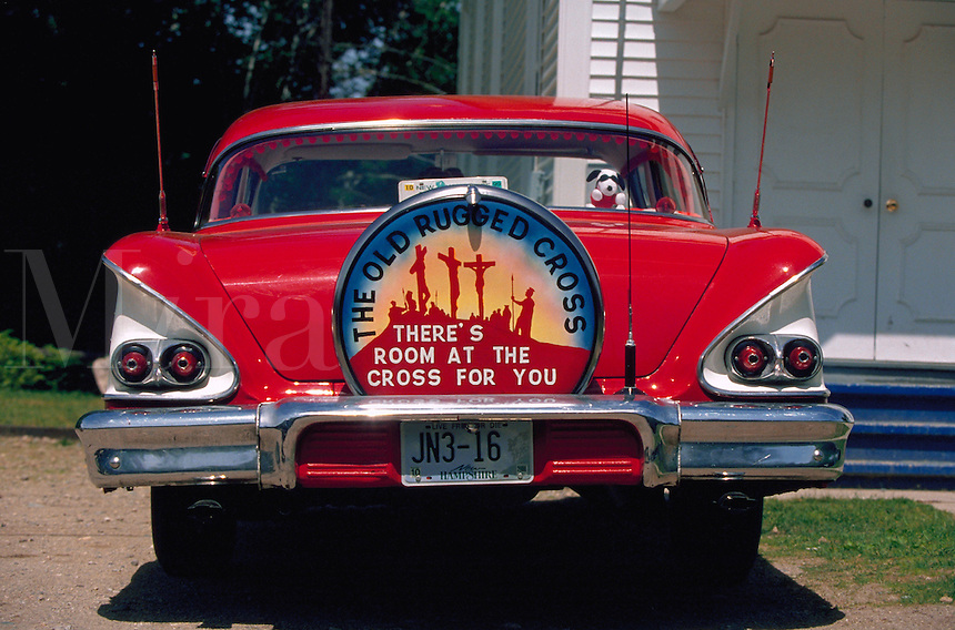 Vintage Chevy advertising that There's Room at the Cross For You.