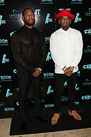 MIAMI, FL - FEBRUARY 19: Tank & P-Reala attend Floyd Mayweather's 44th futuristic Birthday Party at Casablanca on the Bay on February 19, 2021 in Miami, Florida. Photo Credit: Walik Goshorn/Mediapunch