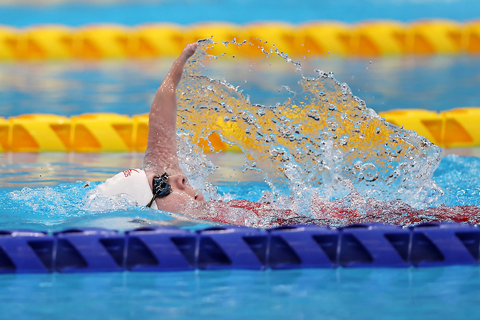 TOKYO, JAPAN - AUGUST 30: Danielle Dorris of Team Canada competes in Women's 100m Backstroke - S7 on day 6 of the Tokyo 2020 Paralympic Games at Tokyo Aquatics Centre on August 30, 2021 in Tokyo, Japan. (Photo by Lintao Zhang/Getty Images)