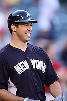 Mark Teixeira #25 of the New York Yankees before a game against the Los Angeles Angels at Angel Stadium on May 29, 2012 in Anaheim,California. Los Angeles defeated New York 5-1.(Larry Goren/Four Seam Images)