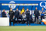 Queen of the South v St Johnstone…18.08.18…  Palmerston    BetFred Cup<br />Tommy Wright watches from the dugout<br />Picture by Graeme Hart. <br />Copyright Perthshire Picture Agency<br />Tel: 01738 623350  Mobile: 07990 594431