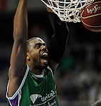 Unicaja´s Will Thomas during 2014-15 Liga Endesa match between Real Madrid and Unicaja at Palacio de los Deportes stadium in Madrid, Spain. April 30, 2015. (ALTERPHOTOS/Luis Fernandez)