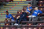 27.09.2020 Motherwell v Rangers:  Rangers subs Alfredo Morelos, Jordan Jones and Ryan Kent