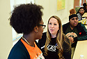 Lisa Marie Rhodes, who founded ALAS to help court-involved students, visits students at Carver High School, Dec. 19th, 2019 in New Orleans.