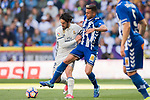 Isco Alarcon (l) of Real Madrid fights for the ball with Victor Camarasa Ferrando of Deportivo Alaves during their La Liga match between Real Madrid and Deportivo Alaves at the Santiago Bernabeu Stadium on 02 April 2017 in Madrid, Spain. Photo by Diego Gonzalez Souto / Power Sport Images