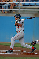 24 Aug 2005: Ben Zobrist (6) of the Salem Avalanche, Class A Carolina League affiliate of the Houston Astros, taken at Pfitzner Stadium, Woodbridge, Va., in a game against the Potomac Nationals. (Tom Priddy/Four Seam Images)