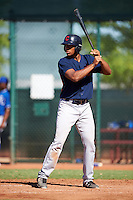 Cleveland Indians Will Benson (7) during an Instructional League game against the Kansas City Royals on October 11, 2016 at the Cleveland Indians Player Development Complex in Goodyear, Arizona.  (Mike Janes/Four Seam Images)