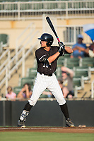 Blake Rutherford (20) of the Kannapolis Intimidators at bat against the West Virginia Power at Kannapolis Intimidators Stadium on July 20, 2017 in Kannapolis, North Carolina.  The Power defeated the Intimidators 6-5.  (Brian Westerholt/Four Seam Images)