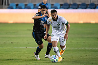 SAN JOSE, CA - SEPTEMBER 19: Bill Tuiloma #25 of the Portland Timbers during a game between Portland Timbers and San Jose Earthquakes at Earthquakes Stadium on September 19, 2020 in San Jose, California.