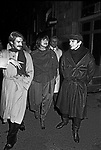 GIL CAGNE', ELSA MARTINELLI E RUDOLF NUREYEV<br /> HIPPOPOTAMUS CLUB ROMA 1981