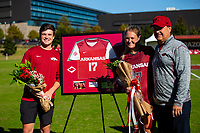 Georgia Bulldogs vs Arkansas Razorback Women's Soccer -   Stefani Doyle (17) and family during senior day ceromony at Razorback Field, Fayetteville, AR on Sunday, October 27, 2019 - Special to NWA Democrat Gazette David Beach