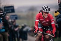 Jasper Stuyven (BEL/Trek-Segafredo) up the Paterberg<br /> <br /> 61th E3 Harelbeke (1.UWT)<br /> Harelbeke - Harelbeke (206km)