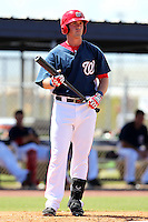 Washington Nationals outfielder Tyler Moore #14 during an Instructional League game against the national team from Italy at Carl Barger Training Complex on September 28, 2011 in Viera, Florida.  (Mike Janes/Four Seam Images)