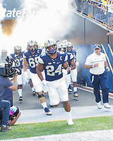 Pitt running back James Conner takes the field. The Pitt Panthers defeated the Villanova Wildcats 28-7 at Heinz Field, Pittsburgh, Pennsylvania on September 3, 2016.