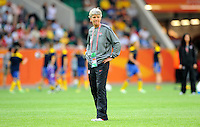 Coach Pia Sundhage of team USA during the FIFA Women's World Cup at the FIFA Stadium in Wolfsburg, Germany on July 6thd, 2011.