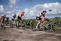Arianna Fidanza (ITA/Lotto-Soudal) over the plugstreet gravel section<br /> <br /> 9th Gent-Wevelgem in Flanders Fields 2020<br /> Elite Womens Race (1.WWT)<br /> <br /> One Day Race from Ypres (Ieper) to Wevelgem 141km<br /> <br /> ©kramon