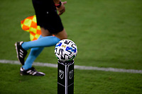 LOS ANGELES, CA - SEPTEMBER 02: MLS Adidas Ball, MLS, referee during a game between San Jose Earthquakes and Los Angeles FC at Banc of California stadium on September 02, 2020 in Los Angeles, California.