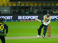 NZ's Trent Boult bats during the 4th international men's T20 cricket match between the New Zealand Black Caps and Australia at Sky Stadium in Wellington, New Zealand on Friday, 5 March 2021. Photo: Dave Lintott / lintottphoto.co.nz