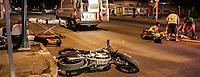 Ayer por la noche 2os personas fueron arrolladas cuando circulaba en moto por la calle Veracruz y Nogales.